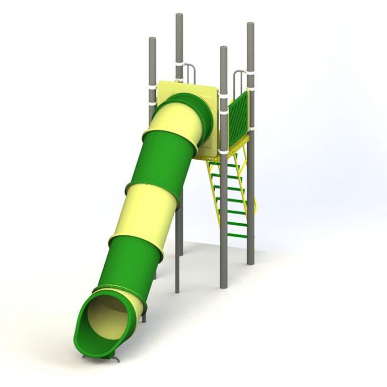 roto_straight_tube_7_FT | Slides | SignaturePLAY | Playground Equipment