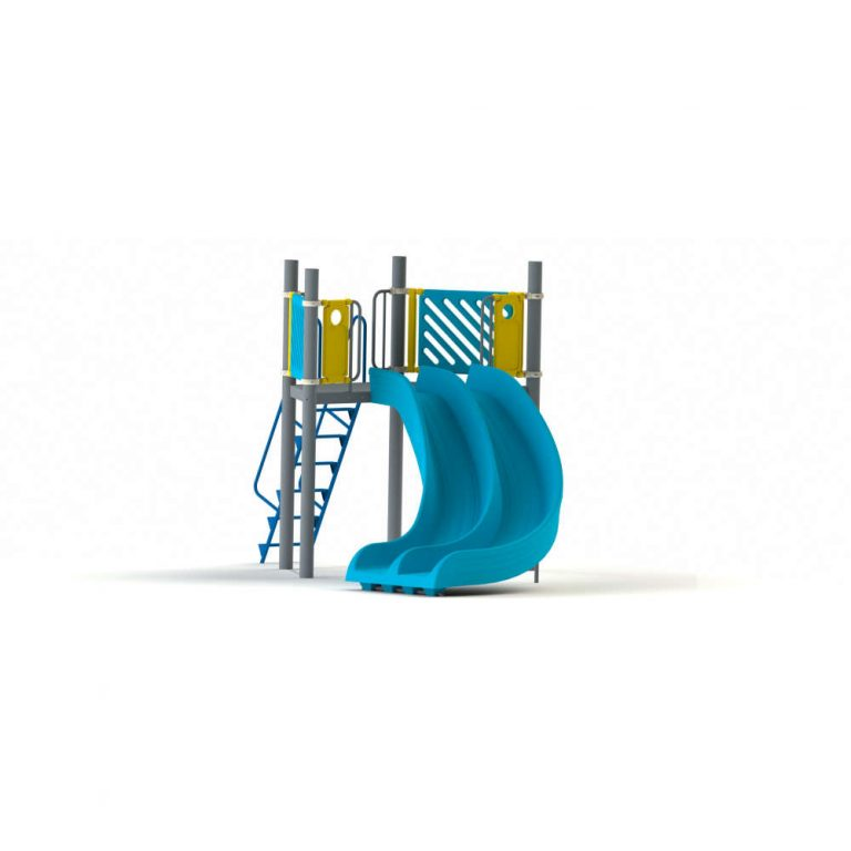ROTO DOUBLE CURVE SLIDE 5FT | Slides | SignaturePLAY | Playground Equipment