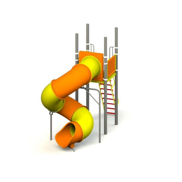 ROTO SPIRAL TUBE SLIDE 7' FT HT | Slides | SignaturePLAY | Playground Equipment