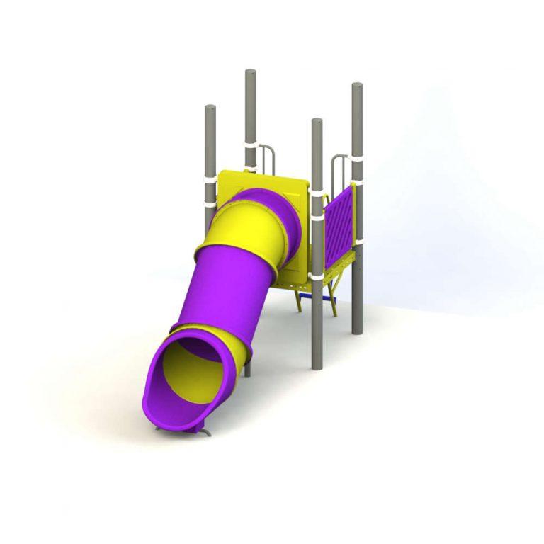 ROTO STRAIGHT TUBE SLIDE 3' FT HT | Slides | SignaturePLAY | Playground Equipment