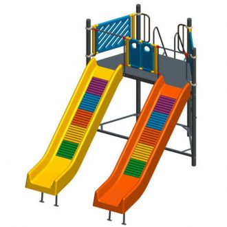 frp_double_roller_7ft | Slides | PLAYTime | Playground Equipment