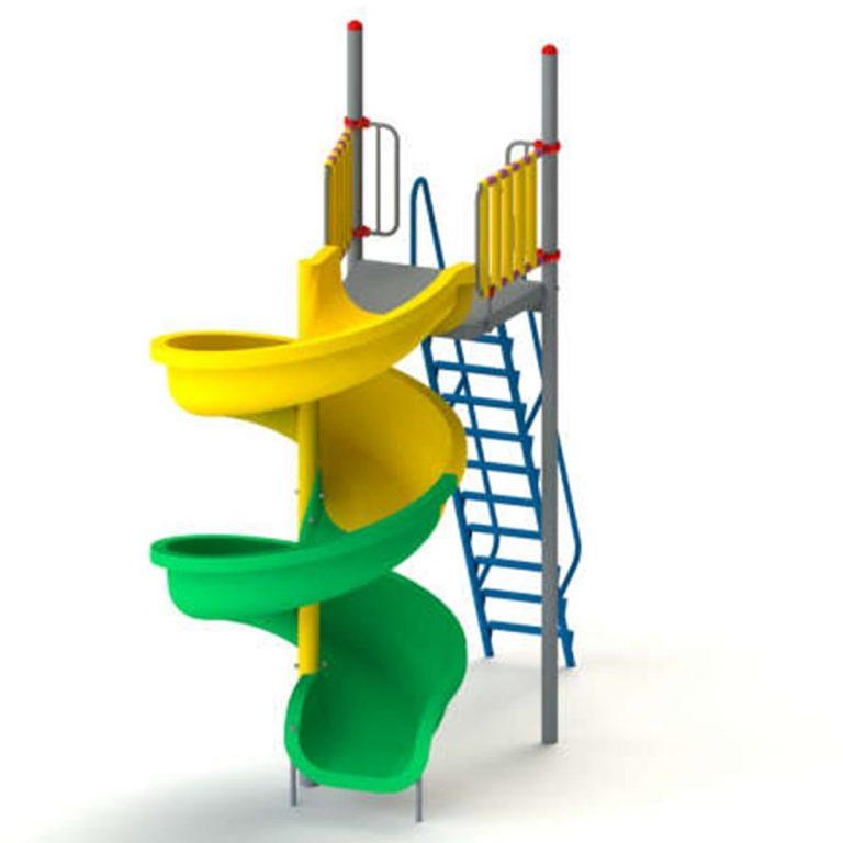 frp_spiral_slide_9ft | Slides | PLAYTime | Playground Equipment