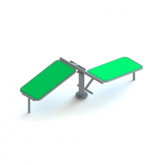 ABS BOARD DOUBLE SINGLE POLE FRP | Outdoor Fitness | Playtime | Playground Equipment