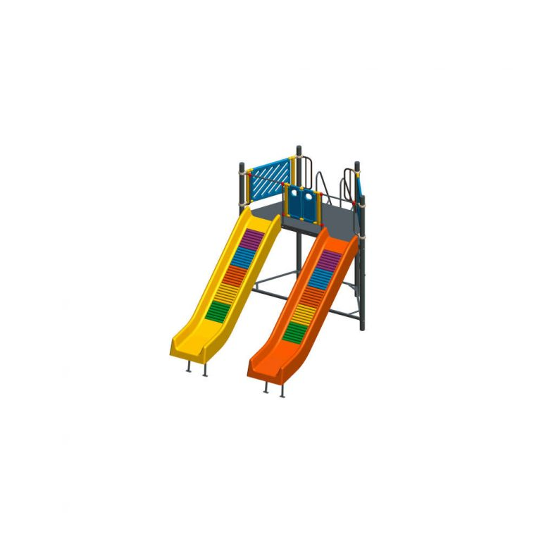 FRP DOUBLE ROLLER SLIDE | Slides | PLAYTime | Playground Equipment
