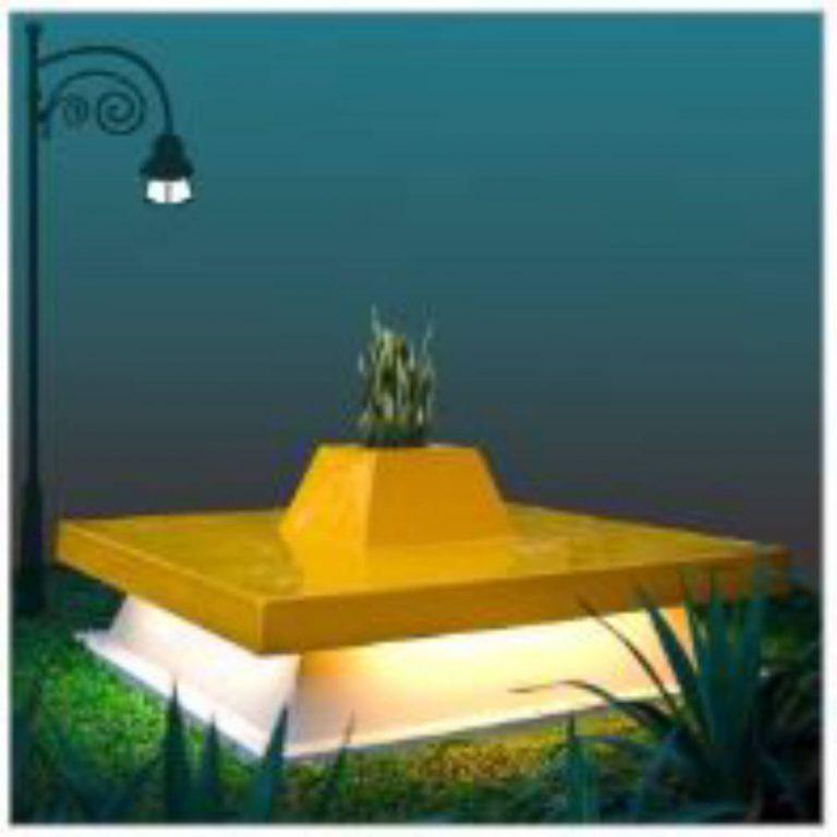 LUMINOUS BENCH | Garden Decor | SignaturePLAY | Playground Equipment