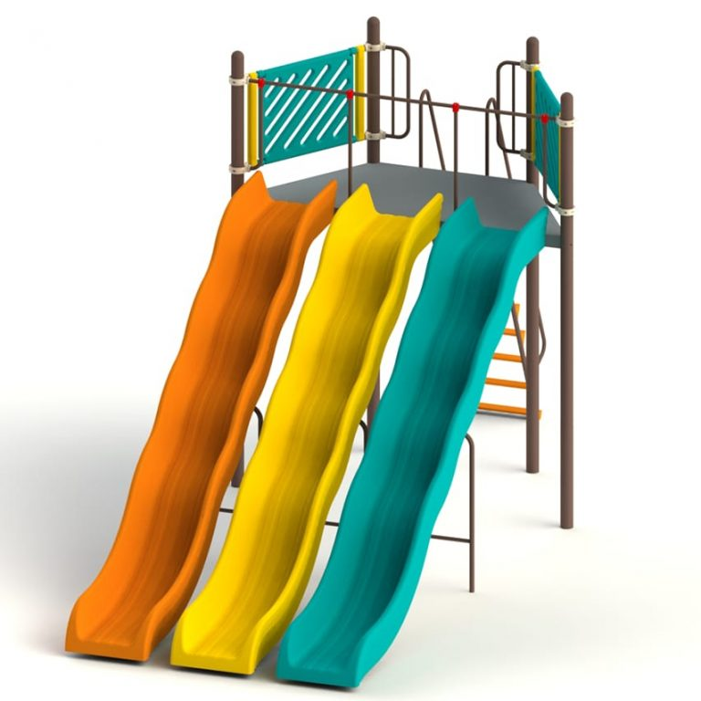 triple_wave_7ft | Slides | PLAYTime | Playground Equipment