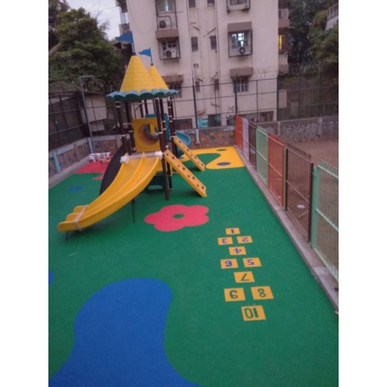 Rubber Flooring - Hopscotch & Floral | Flooring Solution | SignaturePLAY | Playground Equipment